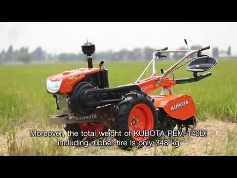 KUBOTA PEM-140DI Power Tiller Video #1