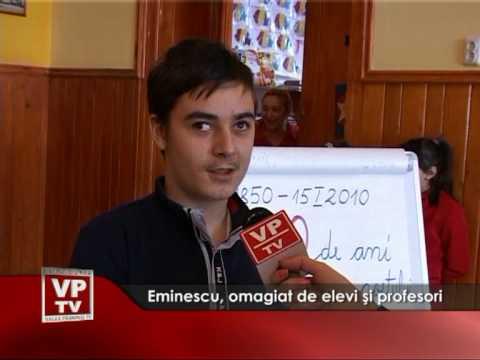 Eminescu, omagiat de elevi şi profesori