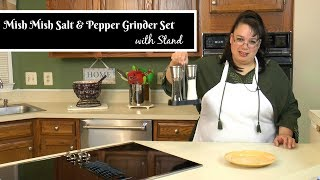 "Join Amy for an unboxing and review of the Mish Mish Salt & Pepper Grinder Set with Stand. This set is great because it includes a stand so that you can move your grinders around the kitchen as well as out to the BBQ. It also is easy to load with your favorite seasonings because it has a wide opening for filling. A bonus is that the grinders have a lid to keep out dust! This is a really nice addition to our kitchen! This will be one of your best kitchen gadgets!Amy Learns to Cook is all about learning to make simple, tasty food from fresh ingredients.  One year ago, I made a commitment to stop eating processed convenience foods.  I decided to learn to cook ""real"" food. Join me!  Let's learn to cook together! Enjoy! Please share! Mish Mish Salt & Pepper Grinder Set with Stand:http://amzn.to/2qrbZbYPlease SUBSCRIBE to my channel, LIKE, and leave a COMMENT.Please visit my website: www.amylearnstocook.comAny links in this description, including Amazon, are affiliate links.I received this product free of charge in exchange for my honest review."