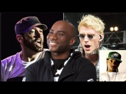 MGK OVERLY CONFIDENT Comparing His Sales to Eminem Sales at Breakfast Club (J HOOD REACTS)