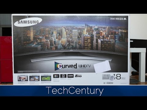2015 Samsung UE48JU6550 Unboxing and First Look / 4K Curved TV / 6500 Series