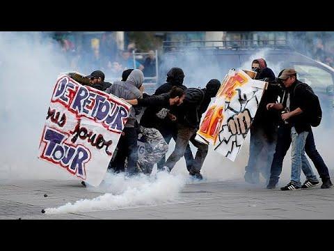 Γαλλία: Διαδηλώσεις και επεισόδια για την εργασιακή μεταρρύθμιση Μακρόν