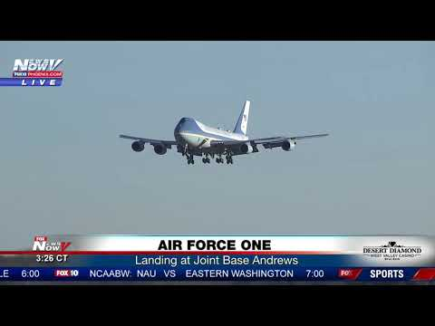 SMOOTH: Great Visual Of Air Force One Landing (FNN)
