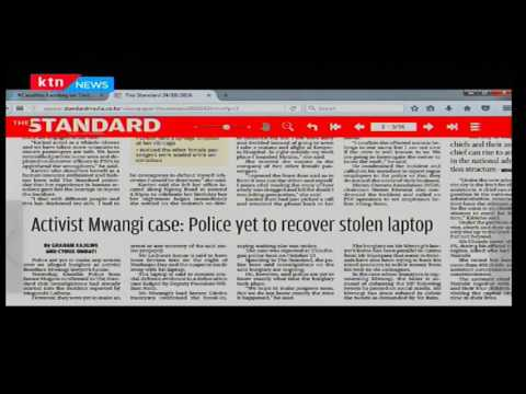 Morning Express: Activist's Boniface's Lawyer's laptop goes missing with evidence on Ruto, 24/10/16
