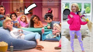 Disney Princesses 10 NEW CASUAL OUTFiTS | DIY Halloween Costumes from Wreck It Ralph 2 by Brooklyn and Bailey