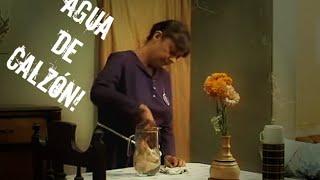 Una señora le prepara a su amante una jarra de agua, hecha con un calzon apestoso.
