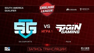 SG-eSports vs Pain, DreamLeague SA Qualifier, game 1 [Lum1Sit]