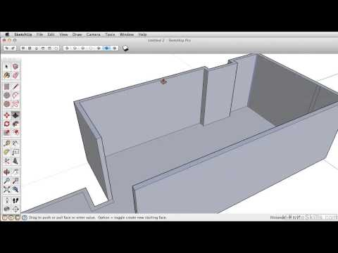 SketchUP 2013 Tutorial | Extruding Your Walls - Push, Pull And Offset