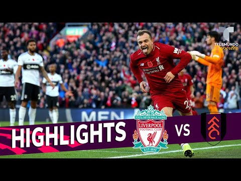 Liverpool Vs. Fulham: 2-0 Goals & Highlights | Premier League | Telemundo Deportes