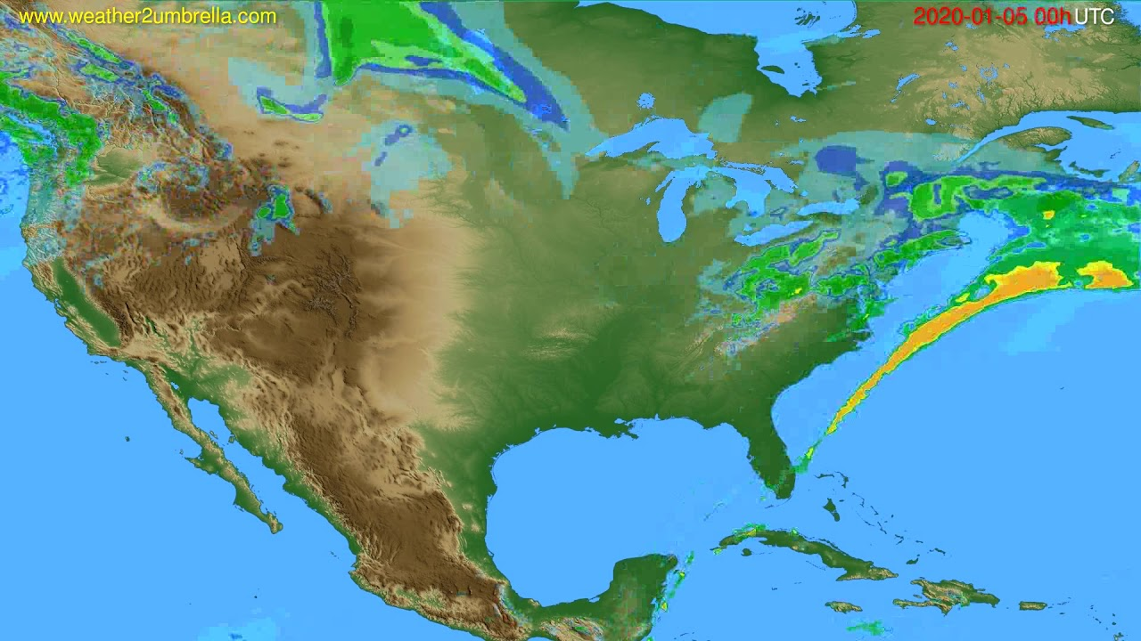 Radar forecast USA & Canada // modelrun: 12h UTC 2020-01-04