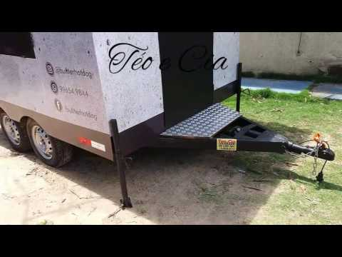 Food Truck trailer para food Truck Téo e Cia