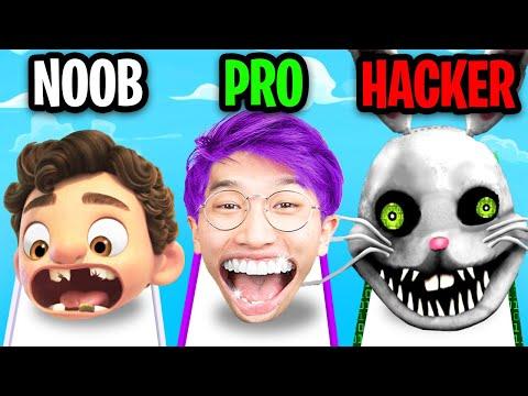 NOOB vs PRO vs HACKER In TEETH RUNNER!? (MAX LEVEL!)