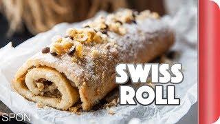 Hazelnut Swiss Roll Recipe by SORTEDfood