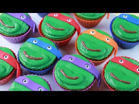 How to Make Teenage Mutant Ninja Turtles Cupcakes