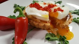 We make a delicious Chipotle & Cheese Fish Tartlet with Chilli Butter