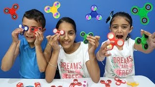 Fidget Spinner Tricks with HZHtube Kids Fun! Hand Spinner Review