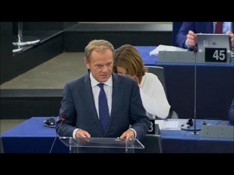 Κάλεσμα Τουσκ στο Ευρωπαϊκό Κοινοβούλιο να στηρίξει την Ούρσουλα φον ντερ Λάινεν…