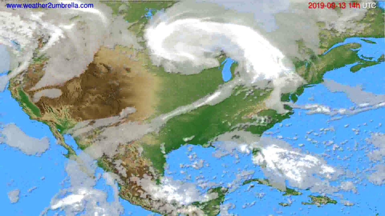 Cloud forecast USA & Canada // modelrun: 00h UTC 2019-09-11
