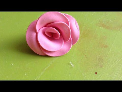 come realizzare una piccola rosa in foamy
