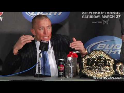 UFC 111 Georges StPierre Was Not Impressed With His Performance vs Dan Hardy