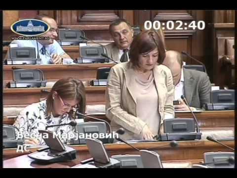 Весна Марјановић о амандманима на измене Закона о јавном информисању и медијима
