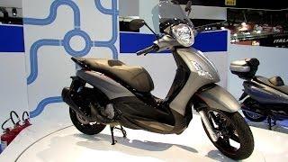 6. 2014 Piaggio BV 350ie Scooter Walkaround - 2013 EICMA Milan Motorcycle Exhibition