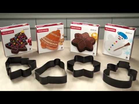 Видео Формочки для печенья из металла Tescoma Форма для выпечки 20см Рождественская елка DELICIA Tescoma 623330