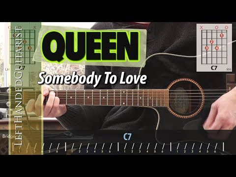Somebody To Love Acoustic Guitar Queen Chords Original Vocals ...