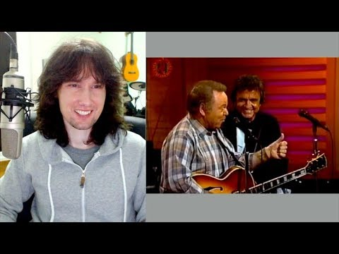 British guitarist reacts to two country LEGENDS! Johnny Cash and Roy Clark!