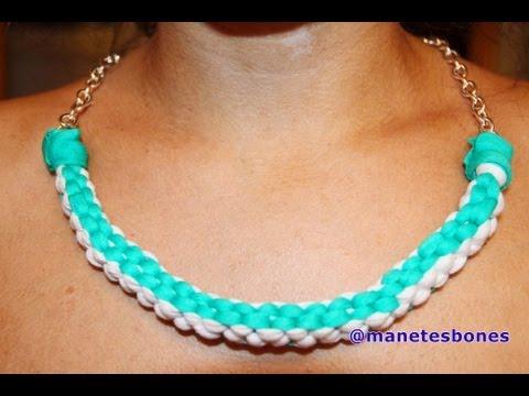 Cómo hacer un collar babero de trapillo | Tutorial DIY
