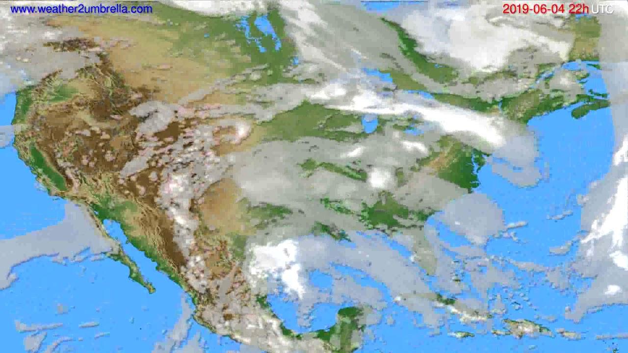 Cloud forecast USA & Canada // modelrun: 12h UTC 2019-06-02