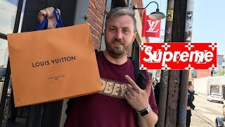 For more videos please subscribe using this link: https://goo.gl/Jm3T0b I camped out for the Supreme x Louis Vuitton pop-up in...