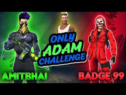 ADAM Challenge With Badge99 (FAN MEETUP) || Garena Free Fire || Desi Gamers