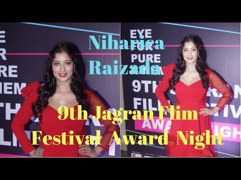 Niharica Raizada At The Red Corpet Of 9th Jagran Flim Festival Award Night