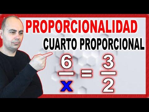 hallar el cuarto proporcional de una proporción   MATEMÁTICAS JUAN ...