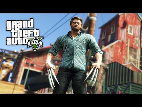 LOGAN MOVIE MOD w/ WOLVERINE CLAWS!! (GTA 5 Mods) (видео)