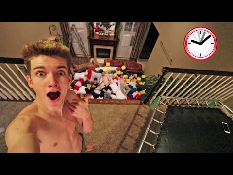 ULTIMATE 24 HOUR INDOOR FOAM PIT CHALLENGE!