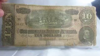 Richmond (IN) United States  City pictures : Ten Dollars 1864 Confederate States United States $ Richmond Banknote Bill Paper Money