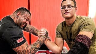 Video SCHOOLBOY vs ARM WRESTLERS 2X HIS AGE, WINS? MP3, 3GP, MP4, WEBM, AVI, FLV Maret 2019