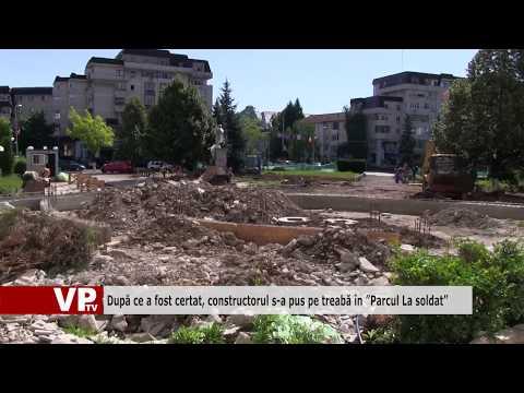"""După ce a fost certat, constructorul s-a pus pe treabă în """"Parcul La soldat"""""""