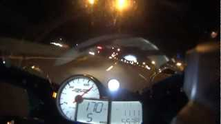 5. NYC 2012 BMW S1000RR TOP SPEED HIGHWAY NIGHT RUN SONY ACTION CAM HDR-AS15