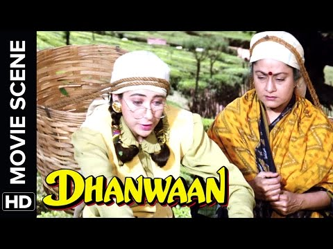 Karisma Turns Into A Tea Picker | Dhanwaan | Movie Scene