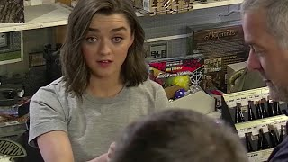 Maisie Williams (aka Arya Stark) Pranks Game of Thrones Fans Video