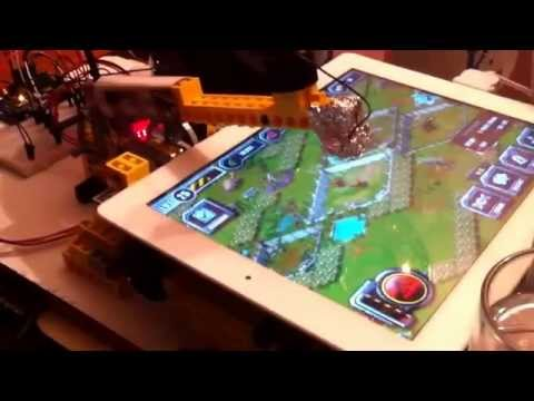 Lego technics and Arduino: automated tapping machine for app testing on iPad