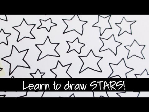 How to draw doodle stars quickly and easily