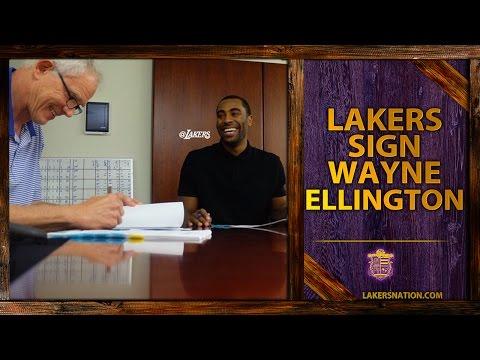 Video: Los Angeles Lakers Sign Guard Wayne Ellington