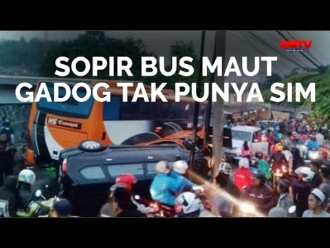 Sopir Bus Maut Gadog Tak Punya SIM
