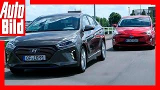Hybrid: Hyundai Ioniq vs. Toyota Prius (2016) by Auto Bild