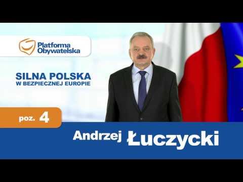 Andrzej Łuczycki - spot wyborczy. Okręg nr 5. PE 2014