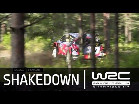 Vídeo shakedown Rallye Finlandia 2015 y accidente Thierry Neuville